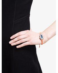 Kimberly Mcdonald Blue 18kt White Gold, Dark Geode And Macramé Bracelet