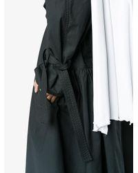 J.W. Anderson Black Detachable Draped Collar Trench Coat