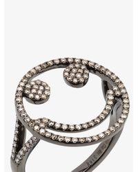 Rosa De La Cruz - Brown Diamond Smile Ring - Lyst