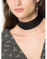 Pamela Love - Gray 18k Yellow Gold Diamond Dagger Earrings - Lyst
