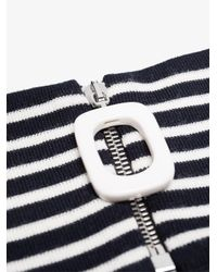 J.W. Anderson - Blue Striped Mock Turtleneck Collar for Men - Lyst