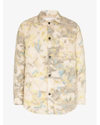 Cmmn Swdn Yellow Printed Quilted Jacket for men