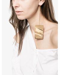 Marques'Almeida - Metallic Marquesalmeida Wavy Plate Earrings - Lyst