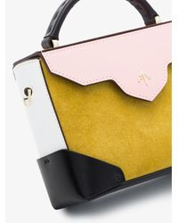 MANU Atelier Yellow Micro Bold Bag With Chain