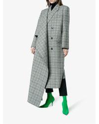 Balenciaga Gray Asymmetric Double-breasted Coat