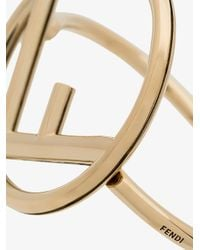 Fendi - Metallic F Is Bracelet - Lyst