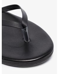 Ancient Greek Sandals Black Leather Sandals