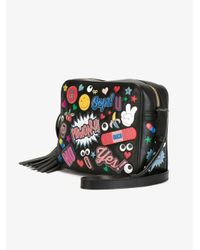 Anya Hindmarch Black 'all Over Stickers' Crossbody Bag