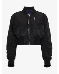 Acne Black Aila Reversible Bomber Jacket