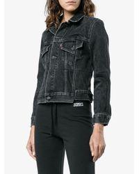 Vetements Black Reworked Regular Fit Denim Jacket