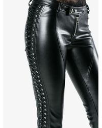 Faith Connexion - Black Skinny-fit Biker Trousers - Lyst