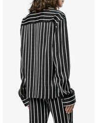 Haider Ackermann Black Striped Shirt
