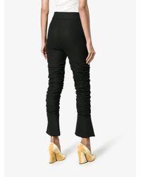 Jacquemus Black Le Nouveau Corsaire Ruched Pants