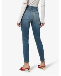 3x1 Blue Jesse High-waisted Straight Leg Jeans
