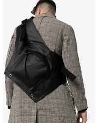 Rick Owens Black Cargo Pocket Cross Body Bag for men