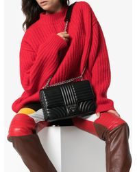 Prada - Black Diagramme Leather Shoulder Bag - Lyst