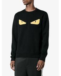 Fendi Black Bag Bugs Eyes Rubber Eyes Sweater for men