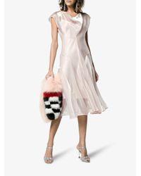 ADEAM - Pink Panelled Cowl Neck Dress - Lyst