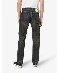 Neighborhood Black Star Patch Denim Straight Jeans for men