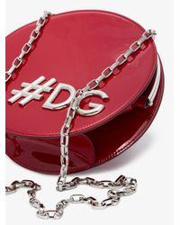 Dolce & Gabbana Red Dg Girls Round Shoulder Bag