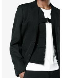 Comme des Garçons - Black Wool Gabardine Blazer for Men - Lyst