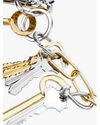 Balenciaga - Metallic Logo Keys Necklace - Lyst