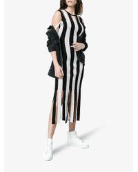 Christopher Kane - Black Knitted Stripe Bodycon Dress - Lyst
