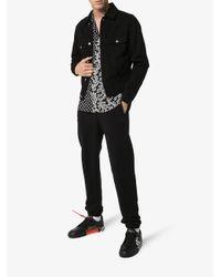 Ksubi Black Embroidered Denim Jacket for men