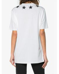 Givenchy White Star Collar T-shirt