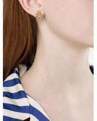 Yvonne Léon Metallic Hanging Pineapple Pearl Earring
