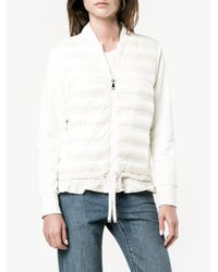 Moncler White Quilted Down Jacket