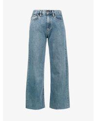 Simon Miller Blue Wide-leg Cropped Jeans