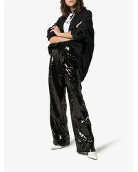 Filles A Papa Black Sequin Wide Leg Trousers