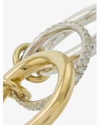 Spinelli Kilcollin - Metallic Silver And Gold Libra Diamond Ring - Lyst