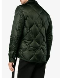 Moncler Gray Quilted Feather Down Jacket for men