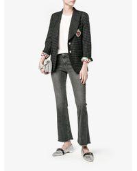 Miu Miu Metallic - Glitter Ballerina Shoes - Women - Leather/polyester - 38.5