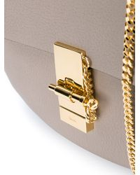 Chloé - Gray Mini Grained Leather Drew Bag - Lyst