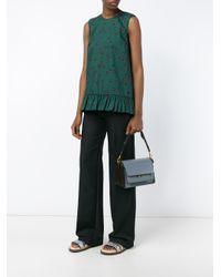 Marni Blue Trunk Shoulder Bag