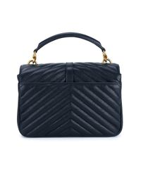 Saint Laurent - Blue Leather Monogram College Leather Bag - Lyst