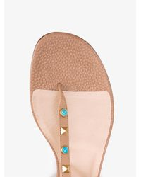 Valentino - Brown Rockstud Gladiator Sandals - Lyst