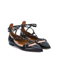 Valentino - Pink Lovelatch Leather Ballet Flats - Lyst