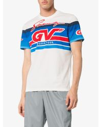 Givenchy White Vintage Racing T-shirt By for men