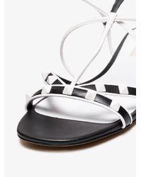 Valentino Black Free Rockstud Flat Leather Sandals