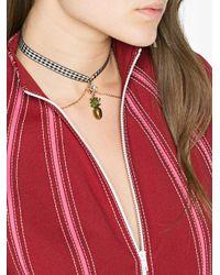 Miu Miu - Black Pineapple Pendant Necklace - Lyst