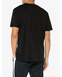 Marcelo Burlon Black Rosone Print Short Sleeve T-shirt for men