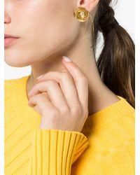 Beaufille - Metallic 10k Yellow Gold Plated Ripple Earring - Lyst