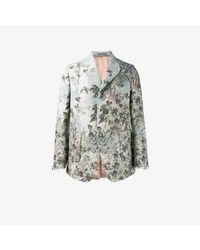 Gucci Blue Floral Jacquard Blazer for men