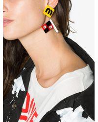 Miu Miu - Blue Plexiglass Earrings With Crystal Embellishment - Lyst