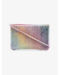 Christian Louboutin - Multicolor Multicoloured Unicorn Spike Leather Clutch Bag - Lyst