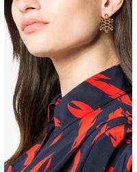 Yvonne Léon Metallic Gold Tortoise Diamond Earring